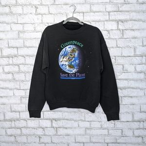 Vtg '88 Greenpeace Save Planet Earth Crewneck